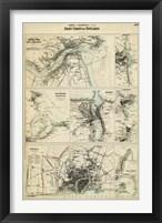Map of the Coast of England III Framed Print