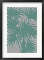 Chromatic Palms II Framed Print