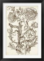 Flora & Filigree I Framed Print
