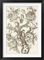 Flora & Filigree II Framed Print