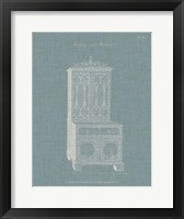 Hepplewhite Desk & Bookcase III Framed Print