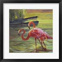 Framed Flamingo III