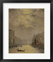 Framed Venice Evening Gold