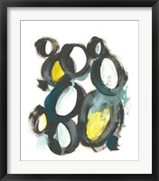 Linked Ovals II Framed Print