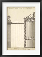 Antique Decorative Gate II Framed Print