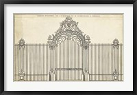 Framed Antique Decorative Gate III