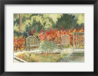 Framed Aquarelle Garden I
