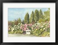 Framed Aquarelle Garden III