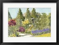 Aquarelle Garden IX Framed Print