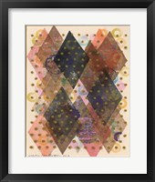 Inked Triangles I Framed Print