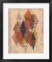 Inked Triangles II Framed Print