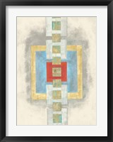 Squares in Line I Framed Print
