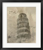 Remembering Italy Framed Print