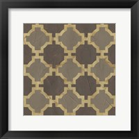 Golden Trellis I Framed Print