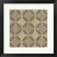 Golden Trellis V Framed Print