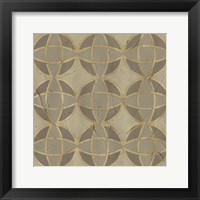 Golden Trellis VII Framed Print