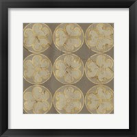 Golden Trellis IX Framed Print