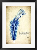 Feather in Color I Framed Print