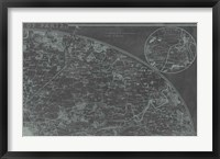 Map of Paris Grid II Framed Print