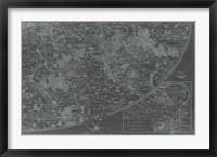 Map of Paris Grid IV Framed Print