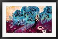 Framed Blue Willow