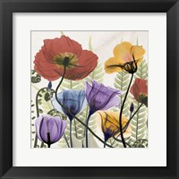 Flowers And Ferns Framed Print