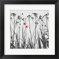 Crimson Ink Plants Framed Print