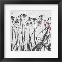 Crimson Ink Plants 2 Framed Print