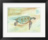 Framed Crystal Tone Sea Turtle