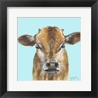 Little Bull Blue Framed Print