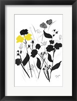 Yellow Silouette 2 Framed Print