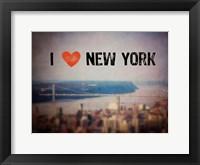 Framed I Heart NY