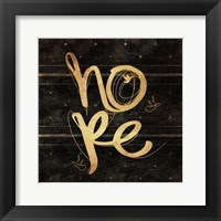Hope Gold Framed Print