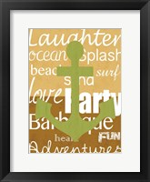 Beach Anchor Framed Print