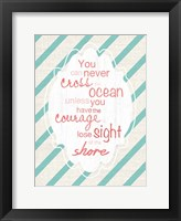 Cross Ocean Framed Print