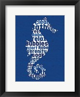 Sea Horse Letters Framed Print