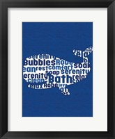 Whale Letters Framed Print