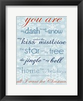 You Are Framed Print