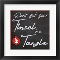 Tinsel Framed Print