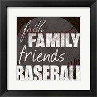 Baseball Friends Framed Print