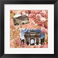 France Amour Coral Framed Print