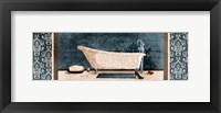 Enjoying Bath Framed Print