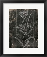 Wood Floral Framed Print