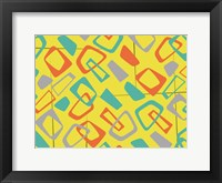 Retro Blocks Framed Print