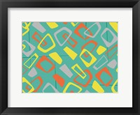 Retro Blocks Mate Framed Print