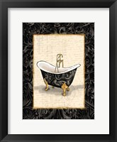 Black Gold Bath Framed Print
