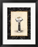 Black Gold Sink Framed Print