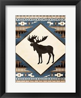 Moose Pattern Framed Print