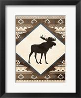 Moose Pattern Mate Framed Print