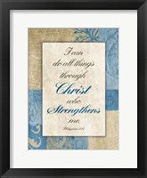 Christ Strength Framed Print